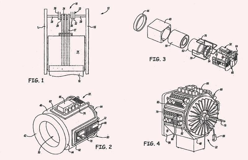 Motor e impulsor de máquina de elevador y refrigeración de los mismos.