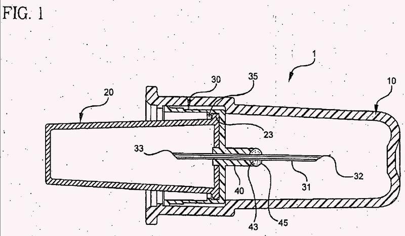 Conjunto de conector y aguja desechable.