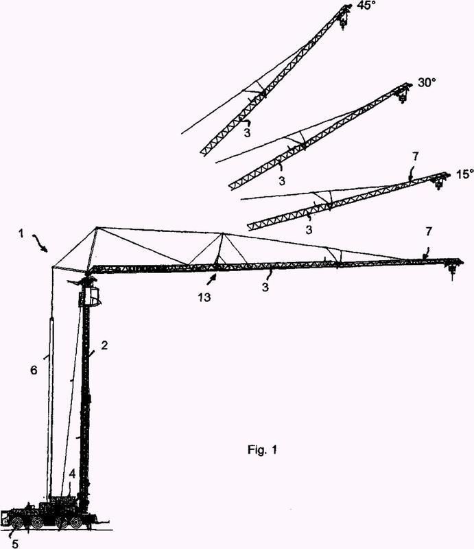 Grúa que comprende correas longitudinales con transiciones exentas de cordón de soldadura entre secciones transversales de correa.