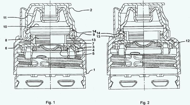 Procedimiento para el montaje de un cierre multi-parte para recipientes y cierre multi-parte.