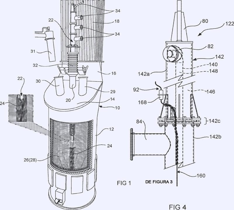 Aparato para mediciones de temperatura de un baño fundido, en una instalación de inyección por lanza sumergida desde arriba.