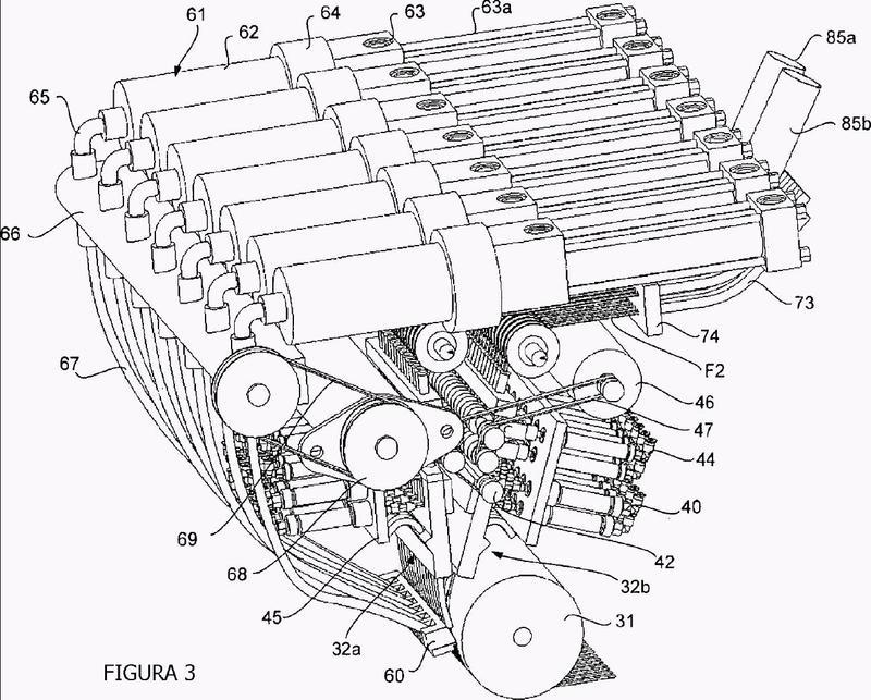 Máquina para la aplicación de fibras.