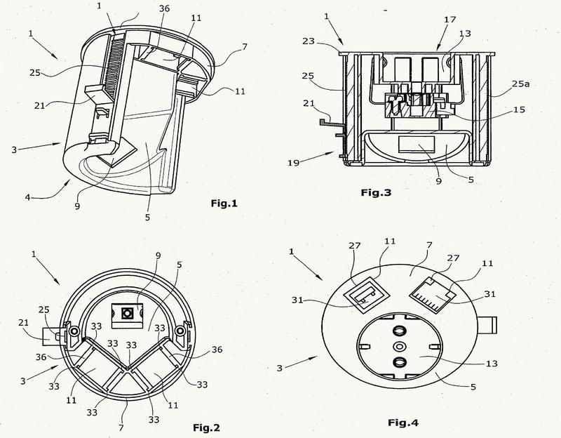 Dispositivo de enchufe para un mueble.