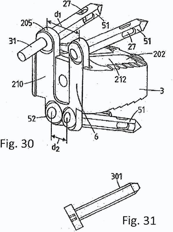 Dispositivo de estabilización de columna vertebral y juego para su implantación.