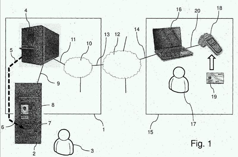 Procedimiento para el inicio de una acción de un dispositivo autorizada mediante un documento en papel.