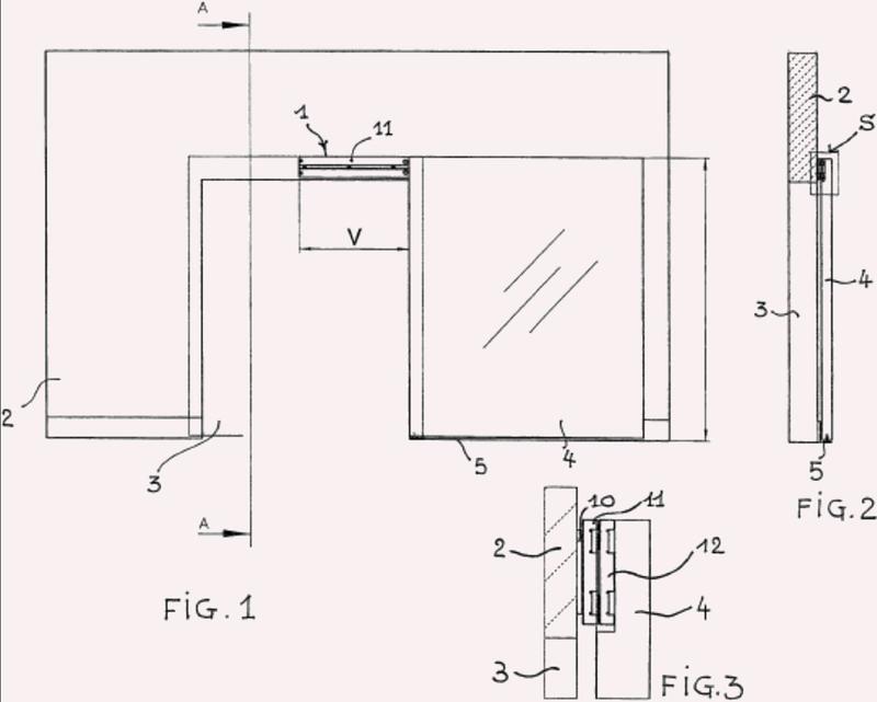 Dispositivo de soporte y deslizamiento para ala de puerta corredera.