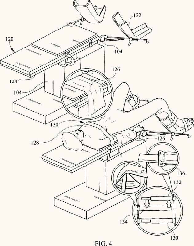 Procedimiento de fijación de un paciente a una mesa de operaciones cuando el paciente se encuentra en la posición de Trendelenburg y aparato al efecto que incluye un kit.