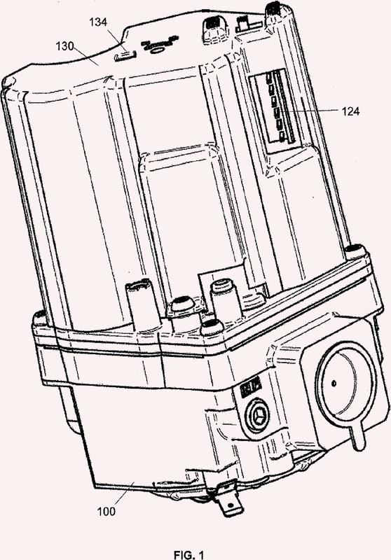Control de válvula de gas operada con motor paso a paso.