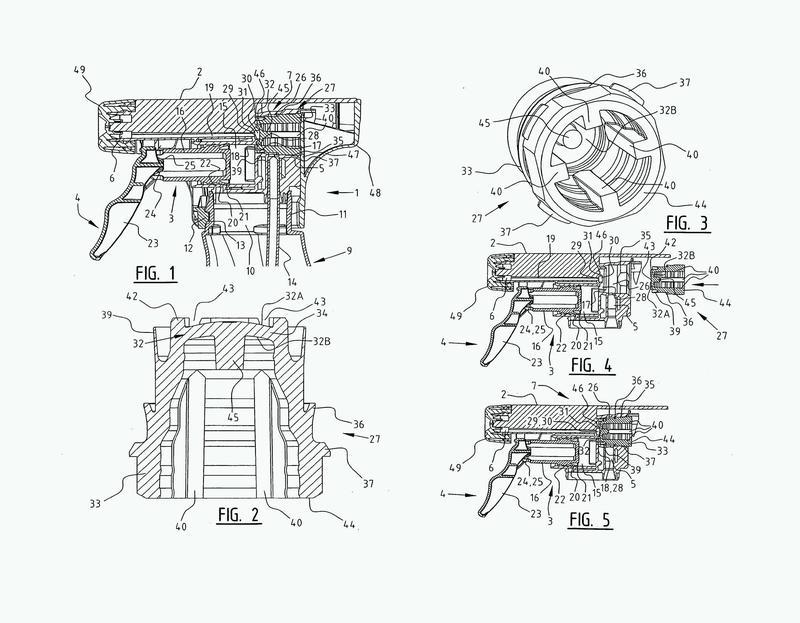 Dispositivo de dispensación de líquido con una válvula de diafragma y método de montaje de la válvula.