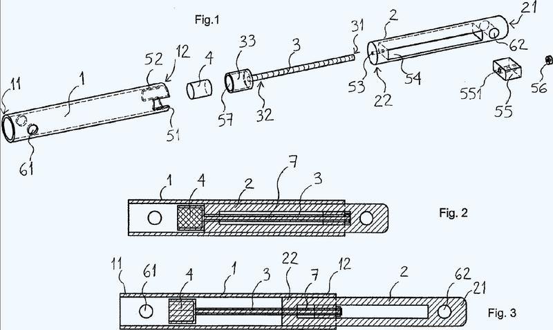 Dispositivo de extensión intracorporal con tornillos que operan en tracción.
