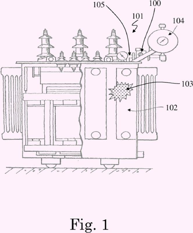 Dispositivo de seguridad para un transformador de energía, y transformador de energía relacionado que usa dicho dispositivo de seguridad.