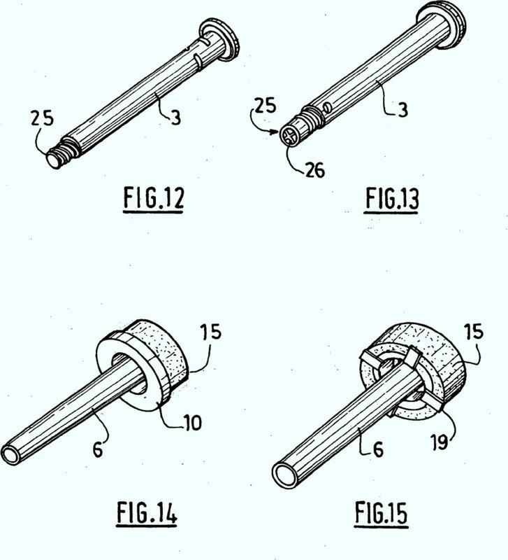 Dispositivo de inyección con aguja retráctil.
