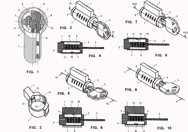 Una cerradura de cilindro programable que tiene una posición de cambio modificada.