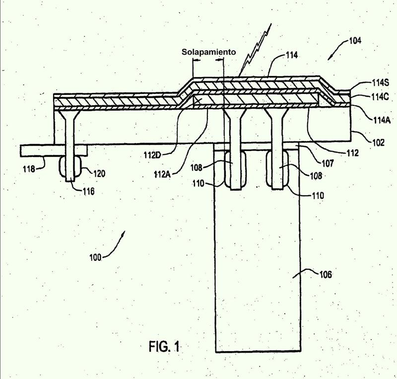 Sistema de protección contra impactos de rayos para una estructura de material compuesto.