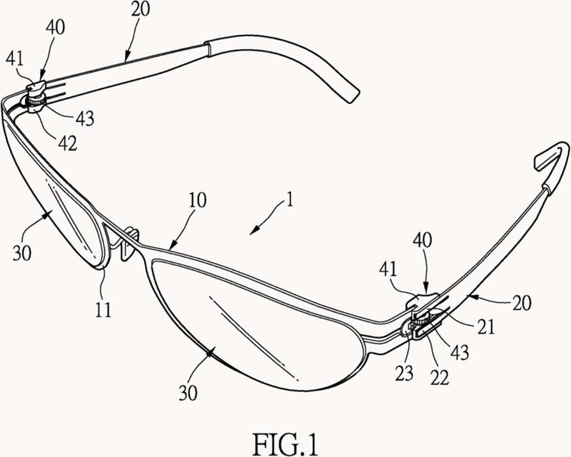 Dispositivo de articulación sin tornillos para monturas y patillas de gafas.