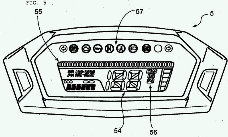 Dispositivo de visualización de velocidad de rotación de motor.