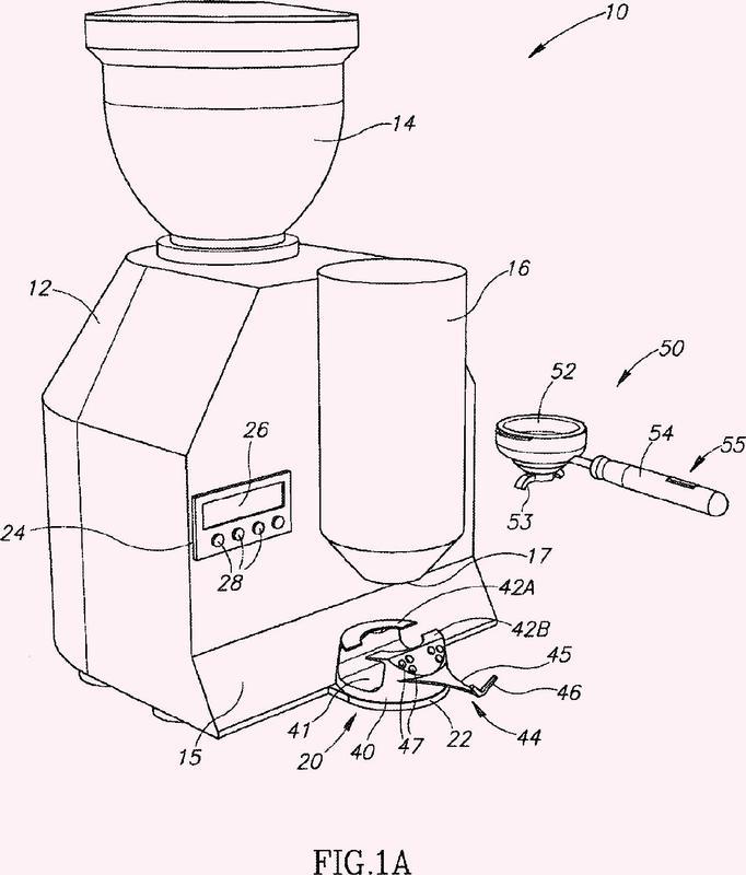 Aparato de medición de café.