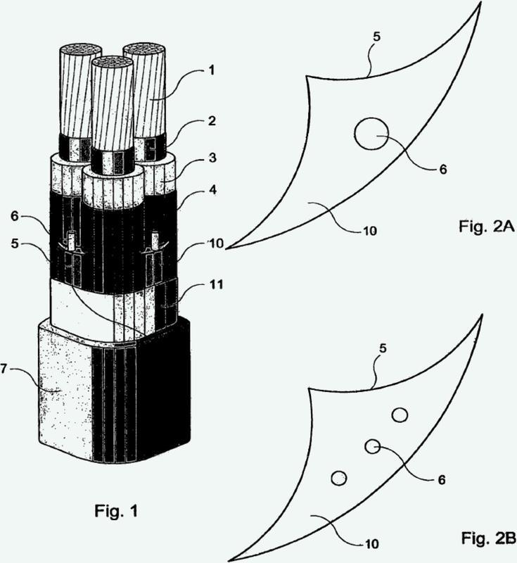 Cable con cinta de apantallamiento.