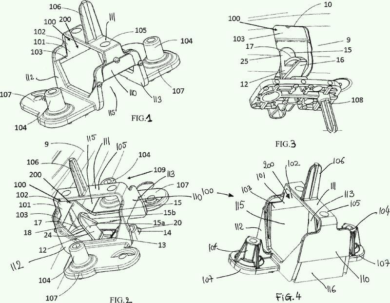 Interfaz de protección de un dispositivo de cierre provisional de un vehículo automóvil.
