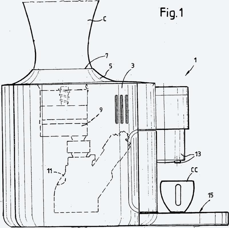 Máquina para la producción de bebidas con un conector para un recipiente de ingredientes amovible.