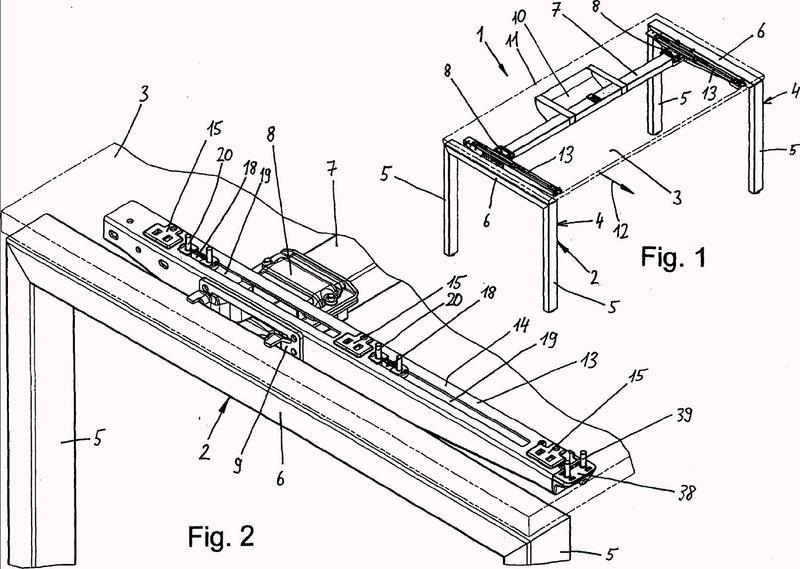 Elemento de guía deslizante y sistema de fijación de tablero de mesa para la fijación deslizante de un tablero de mesa.