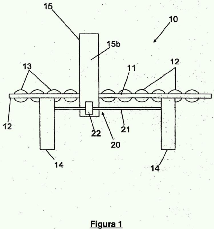 Un conjunto de presión y un método para formar una depresión dentro de una tabla de yeso móvil y húmeda.