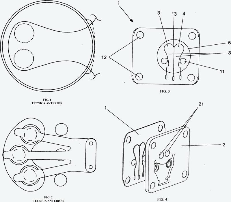 Conjunto de válvula de aspiración para compresor alternativo.
