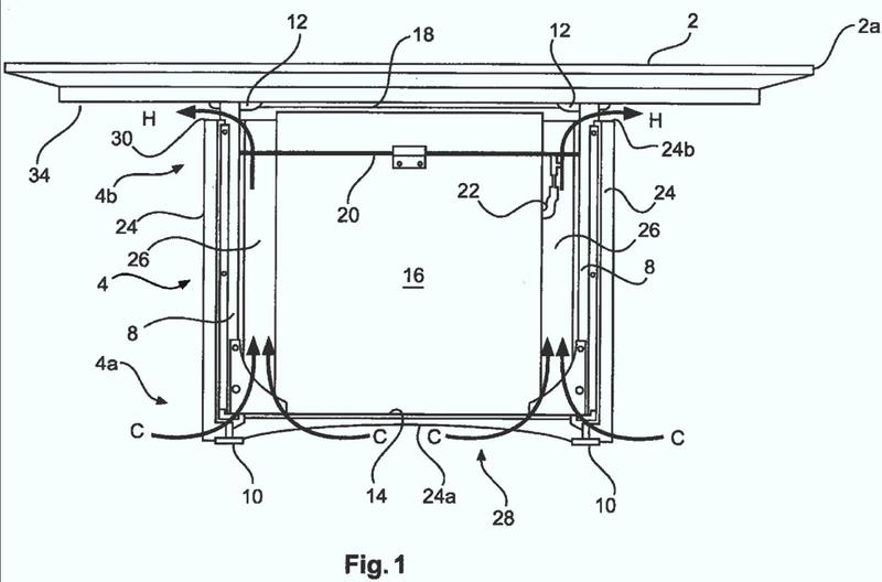 Mesa con calefacción.
