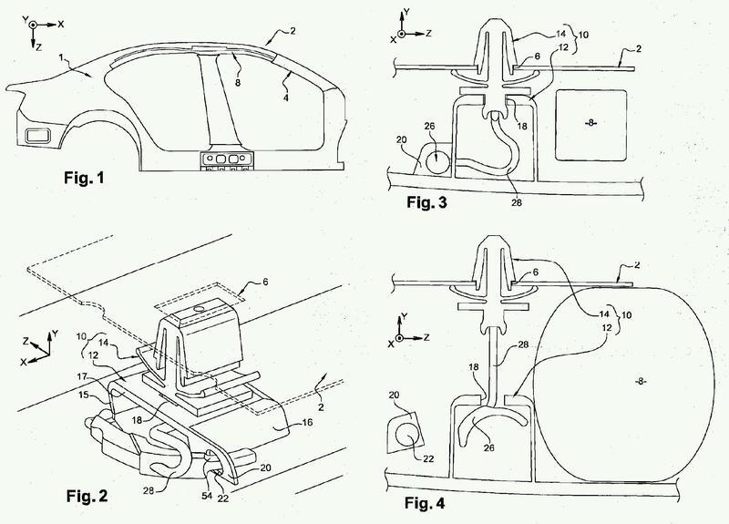 Conjunto para la retención de un elemento de tapicería en un elemento de carrocería de un vehículo.