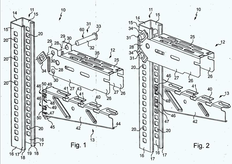Sistema para suministrar un soporte horizontal a un objeto tal como una bandeja portacables y raíl para tal sistema.