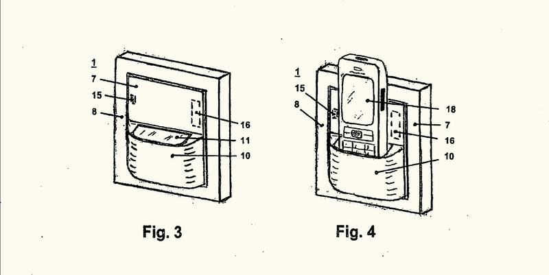 Aparato de instalación eléctrica con aparato de carga para un teléfono móvil.