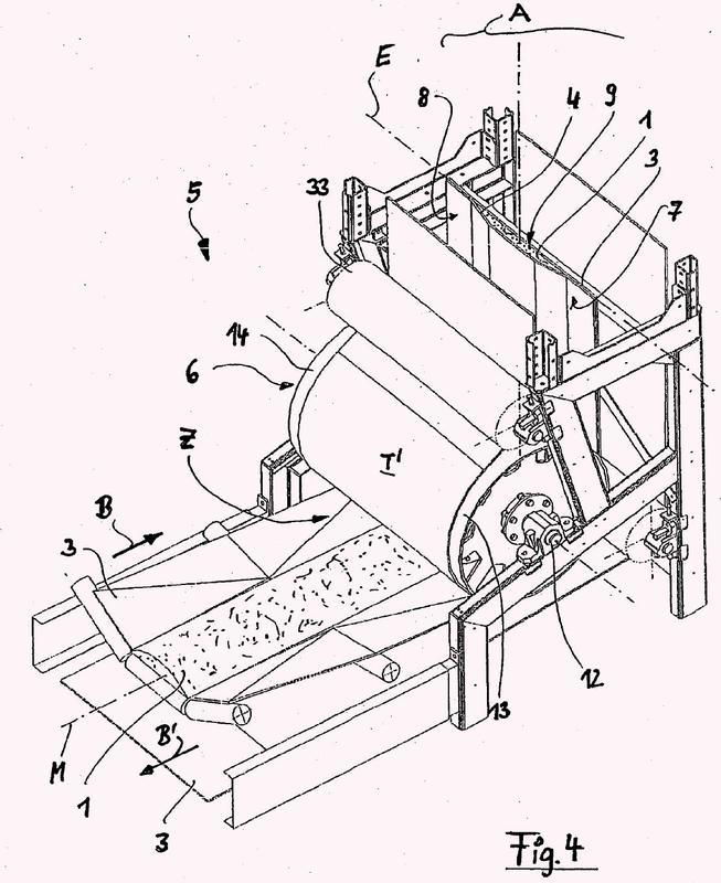 Transportador de cintas inclinado para productos a granel.