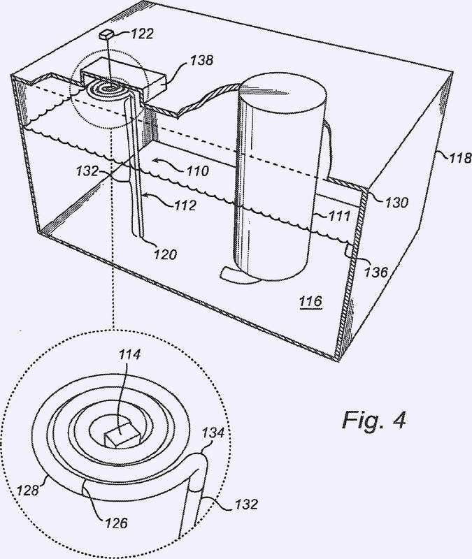 Dispositivo de medición de nivel de un fluido.