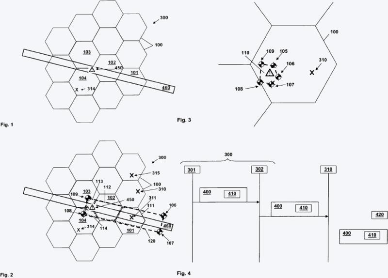 Procedimiento y sistema para el tratamiento geográficamente selectivo de mensajes de difusión en una red de acceso de radio móvil.