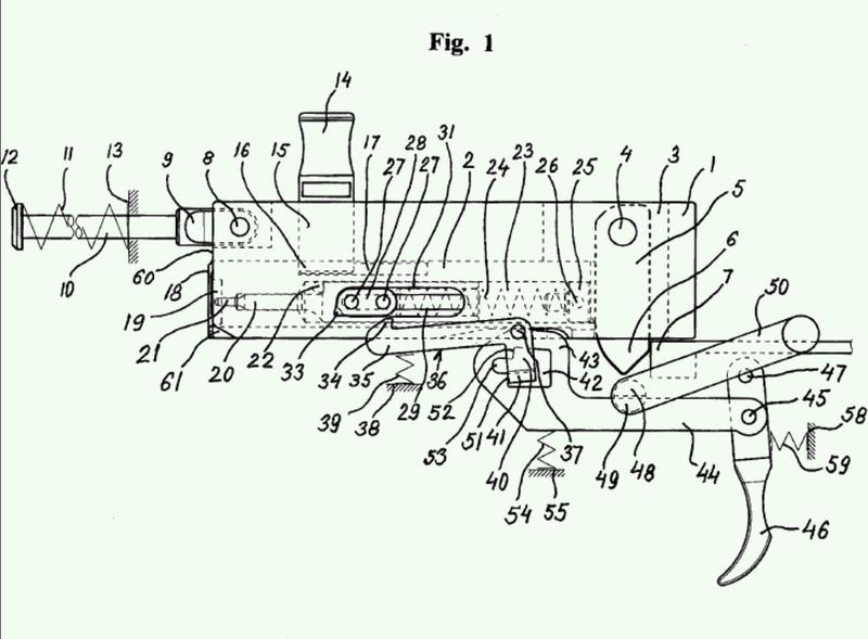 Dispositivo de recámara de un arma de fuego de mano.