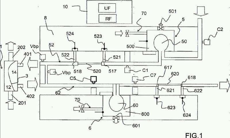 Máquina de diálisis que comprende medios de ultrafiltración y de retrofiltración.