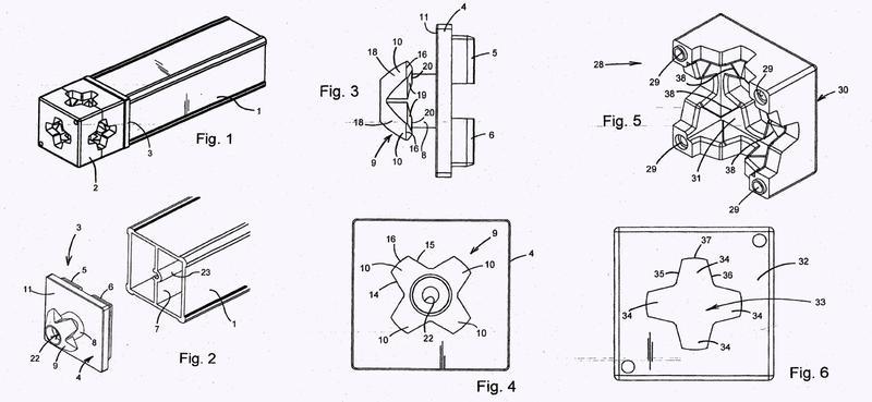 Conector para uso en marcos de pantalla.