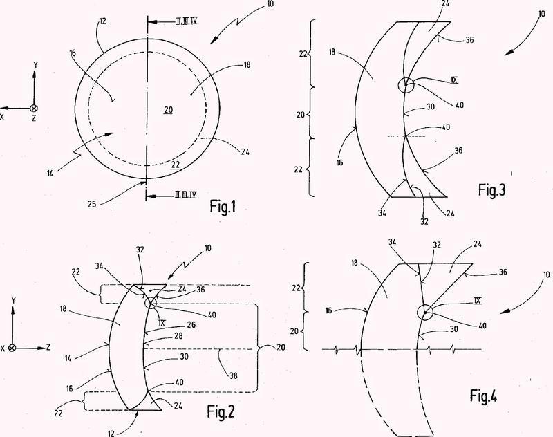 Procedimiento para el diseño de una lente de gafas y lente de gafas.
