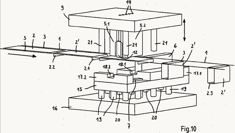 Dispositivo y procedimiento para la producción de perfiles al menos parcialmente cerrados o componentes tubulares a partir de chapa metálica.