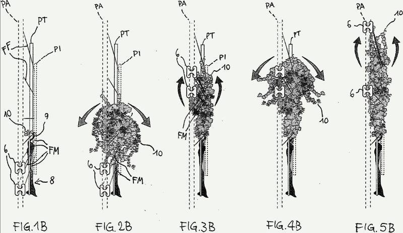 Dispositivo para la fijación y el ajuste de alambres de soporte en una fila de plantas.