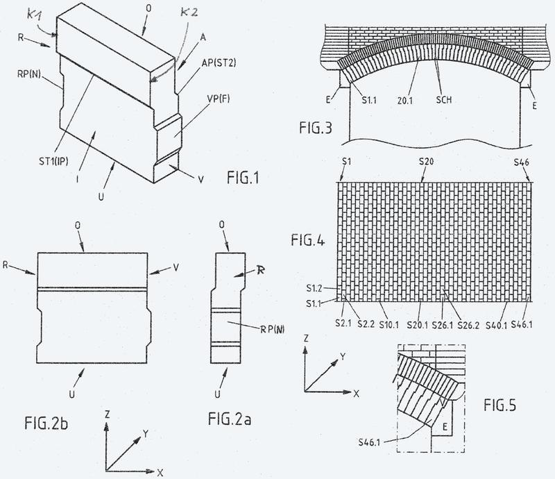 Sistema de unión de ladrillos cerámicos refractarios.