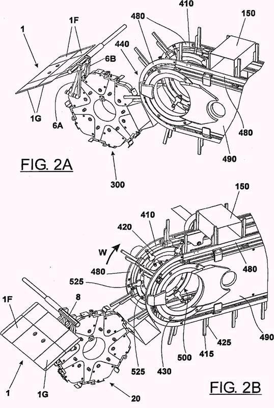Un sistema para transferir preformas tubulares en una configuración abierta a una línea de suministro de una máquina de embalaje.