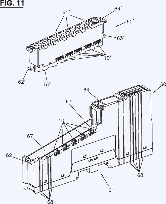 Disposición con partes modulares y medios de codificación ajustables.