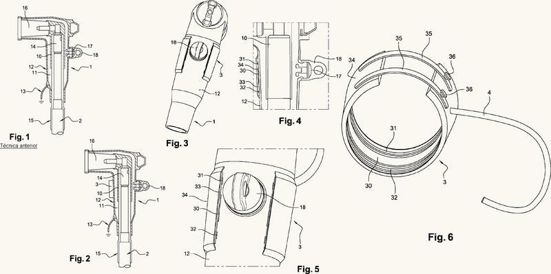 Dispositivo de medición sin contacto de una tensión eléctrica en un cable de red eléctrica de media o alta tensión.