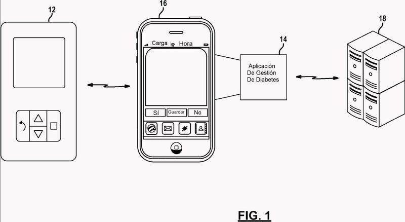 Vinculación y sincronización de una aplicación de teléfono móvil con un medidor de glucosa de mano.