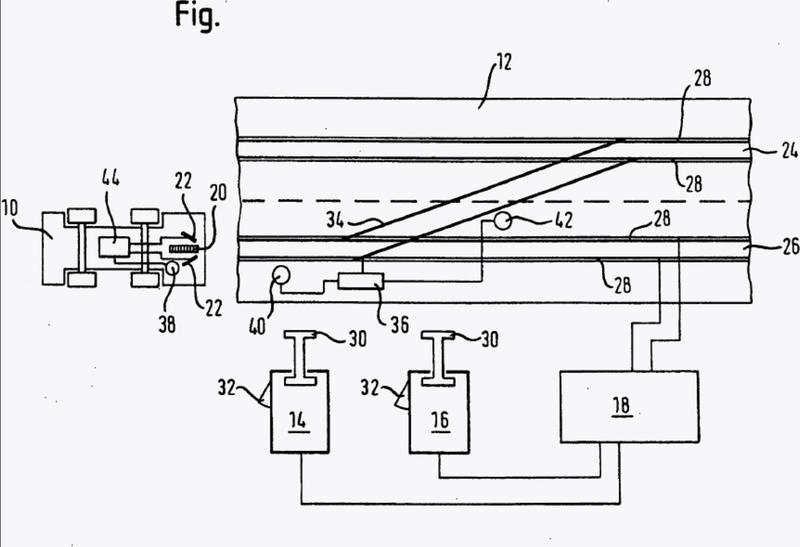 Procedimiento para la conmutación de agujas en un sistema de control digital para vehículos de juguete guiados sobre carriles.