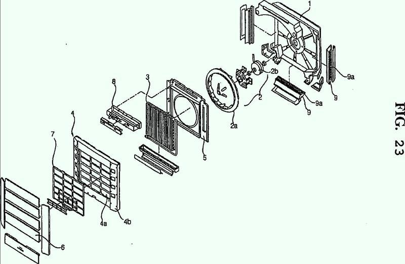 Unidad interior de acondicionador de aire.