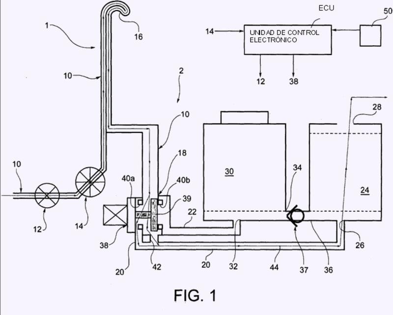 Sistema para suministrar y tratar agua para una máquina de lavado, en particular un lavavajillas.