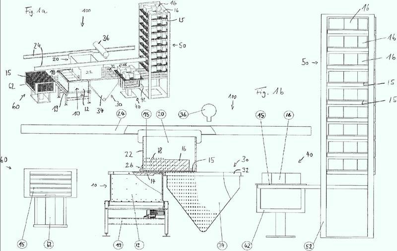 Procedimiento y dispositivo para la extracción de un componente.