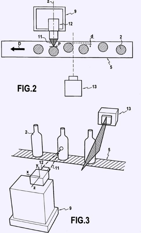Procedimiento e instalación para el marcado en caliente de objetos traslúcidos o transparentes.